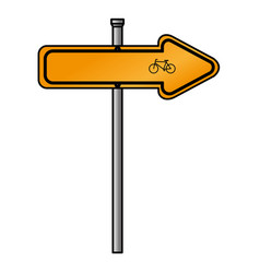 traffic signal bicycle road vector image