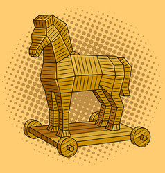 Trojan horse pop art vector