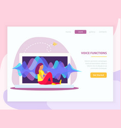 voice functions landing page vector image