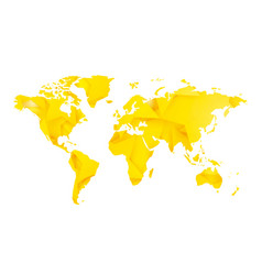 yellow star blank world map vector image
