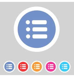Flat game graphics icon menu vector image vector image