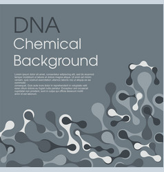 molecular cell structure background chemical vector image