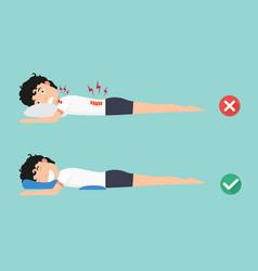orthopedic pillowsfor a comfortable sleep vector image