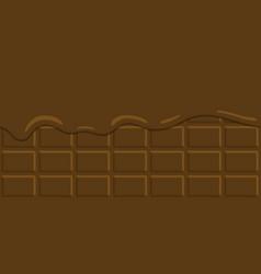 seamless pattern cocoa cream vector image vector image