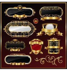 vintage gold framed labels vector image vector image