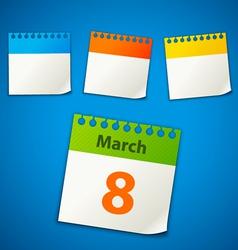 Calendar stickers vector