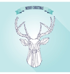 Christmas deer on light background vector image vector image