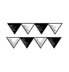 contour cute party flag decoration design vector image