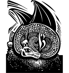 Dragon and Horde vector image vector image
