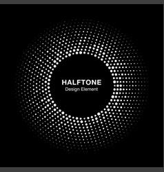 Halftone circle frame with abstract random dots vector