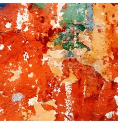 Old Painted Distress Wall vector image