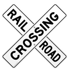 Railroad Traffic Sign vector image vector image