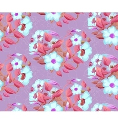 seamless background of watercolor flowers in vector image
