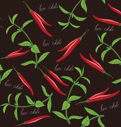 Seamless chili and oregano texture vector image vector image