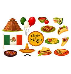 cinco de mayo mexican holiday traditional symbol vector image