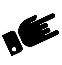 Hand showing rock icon vector image vector image