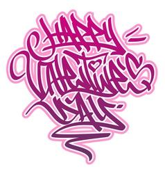 Happy Valentines Day Graffiti vector image vector image