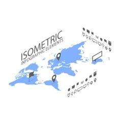 Isometric gps navigation concept world map vector