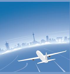 kyoto skyline flight destination vector image vector image