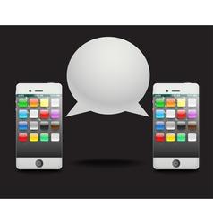 Modern phone with speech cloud vector image