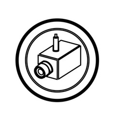 Symbol exterior video camera icon vector