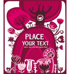 valentine pink meadow vector image