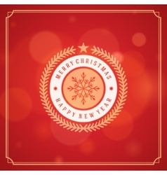 Christmas greeting card lights background vector image