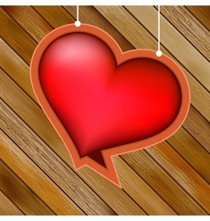 Glow heart on wood background EPS8 vector image vector image