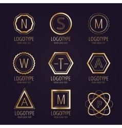 Massive logo set bundle icons badge vector image vector image