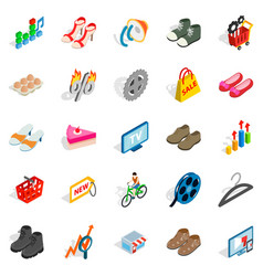 online business icons set isometric style vector image