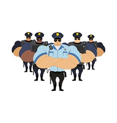 Strong Police to arrest Police officers came to vector image