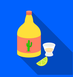 tequila icon in flat style isolated on white vector image