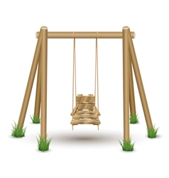 Wood Swing vector image vector image