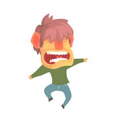 young angry screaming man despair aggressive vector image vector image