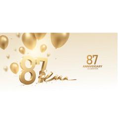 87th anniversary celebration background vector