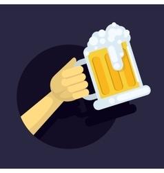 a large glass mug fresh vector image