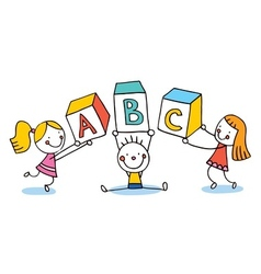 Abc letters kids education vector