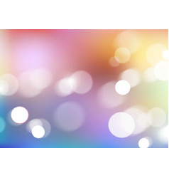 Abstract bokeh lights on blurred colors background vector