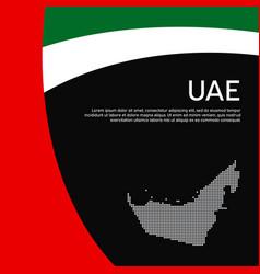 Abstract waving flag mosaic map united arab vector