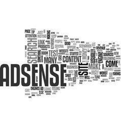 Adsense rip text word cloud concept vector