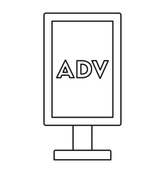 Advertising stand icon outline style vector image
