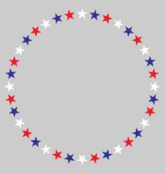 american stars decorative frame logo symbol vector image