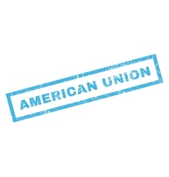 American Union Rubber Stamp vector