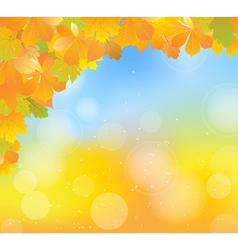 autumn blue corner vector image