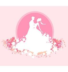 Ballroom wedding dancers silhouette - invitation vector
