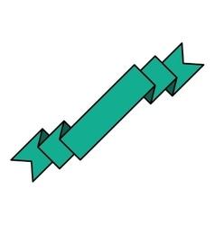 banner ribbon green graphic vector image