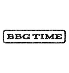 bbg time watermark stamp vector image