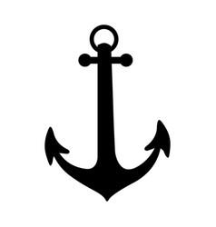 Black silhouette anchor icon design vector