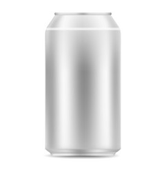 blank aluminiun can icon realistic style vector image