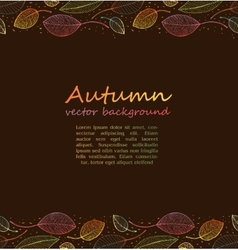 border frame of colorful autumn leaves vector image